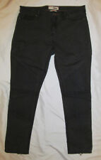 DITTOS LEGGING MID RISE twill moto zip ankle quilted knee jeans pants 31