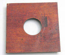 """4"""" Square Lens Board - Flat - 34mm Hole Unthreaded - Deep Recess - USED C687"""