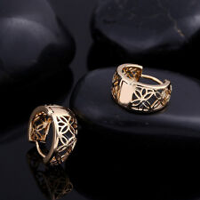 Party luxury women gold Plated with hollow CZ stone hoop Jewelry Earrings new