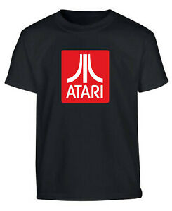 Atari Retro Gamers Gaming T Shirt Black