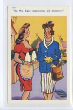 (Sf407-100) Artist Signed, Gossiping Neighbours  Unused G-VG, TROW