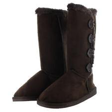 Womens Fur Boots Faux Winter Suede Snow Calf Warm Fashion Sheepskin Shoes New