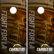 Los Angeles Chargers Player Cornhole Wrap Skin Game Board Set Vinyl Decal CO18