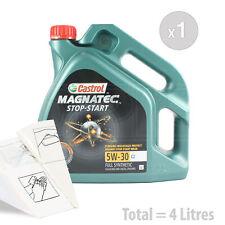 Car Engine Oil Service Kit / Pack 4 LITRES Castrol Magnatec 5W-30 C2 4L
