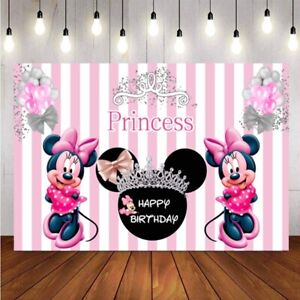 Minnie Mouse Backdrop Girls Birthday Party Photog Background Supplies Decoration