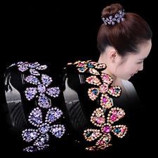 Crystal Women Hair Claws Bun Maker Flower Hairpin Bird Nest Floral Twist Clip