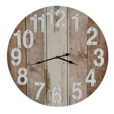 WALL CLOCK Large 60cm Timber Rustic Boards Retro Look Beach Kitchen Home Office