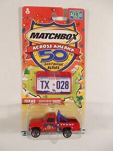 Matchbox Across America 50th Birthday #28 Texas Dodge Dakota
