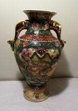 Vintage/home decoy china export hand made porcelain vase with 2 handles H31cm