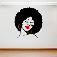 Large Wall Decal Sticker Art Removable Vinyl Transfer Afro Hair Woman Pop Art