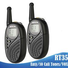 2Stücke Funkgerät Retevis RT35 led-anzeige CTCSS/DCS VOX Kinder Radio