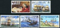 GUERNSEY 1990 ANSON CIRCUMNAVIGATION SET OF ALL 5 COMMEMORATIVE STAMPS MNH (a)