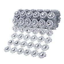 1 Yard Diamond Mesh Wrap Ribbon Roll Rhinestone Wedding Party Floral Decor