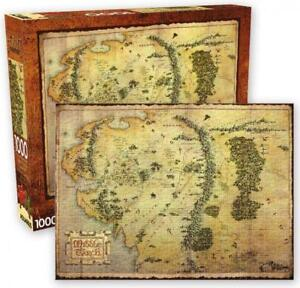 The Hobbit Middle Earth Map 1000 piece jigsaw puzzle 710mm x 510mm (nm)