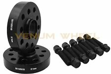 Black 25mm Audi Volkswagen Hub Centric Wheel Spacers Black 14x1.5 Ball Lug Bolts
