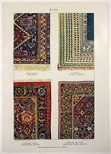 Oriental Rugs - Original 1903 Dated Stone Chromo-Lithograph by Julius Bien & Co.