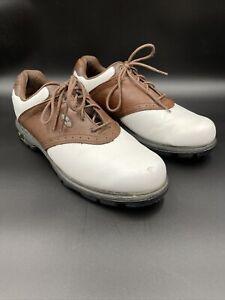 "New Balance 1275 Men's Size 11 1/2"" ABZORB Brown & White Golf Saddle Shoe"