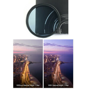 Natural Pure Clear Night Glass Lens Filter for Canon Nikon Sony 49 52 58 62 77
