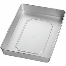 "Wilton Aluminum 9x13x2"" Oblong Sheet Cake Roasting Baking Pan Kitchen Cooking"