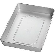 """Wilton Aluminum 16x12x2"""" Oblong Sheet Cake Roasting Baking Pan Kitchen Cooking"""