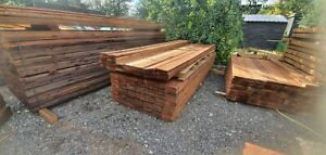 Timber Gravel boards Fencing 22mm x 150mm 6x1 Treated Fencing Timber Board Brown