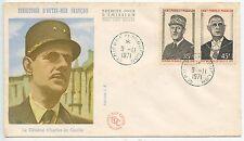 FIRST DAY COVER / SAINT PIERRE ET MIQUELON GENERAL DE GAULLE 1971 COTE 75 €