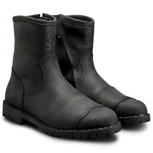Belstaff Duration Waterproof Leather Boots - Black