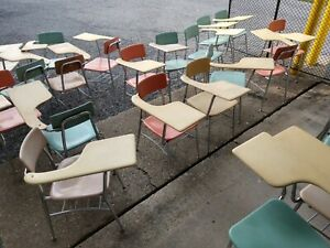 LOCAL PICKUP ONLY Vintage Student Home Middle High School Combo Seat Chair Desk