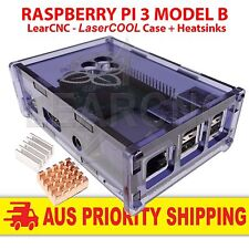 Raspberry Pi 3 Model B 1.2Ghz 64Bit WIFI + LearCNC LaserCOOL Case + Heatsinks