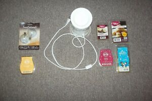 SENSATIONAL TREATS Candle scent warmer with DIFFERENT SCENTS and warmer bulbs
