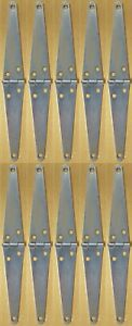 """Hager 10 Pack 6"""" Light Strap Hinge Lot Collection"""