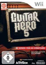 Nintendo Wii Spiel - Guitar Hero 5 mit OVP