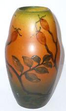 Alte Jugendstil Vase Steingut Keramik Jugendstilvase Art Nouveau floral Künstler