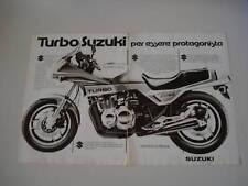 advertising Pubblicità 1982 MOTO SUZUKI XN 85 674CC