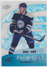 John Moore 2011 11/12 Ice premieres rookie RC 908/999 Columbus Blue Jackets