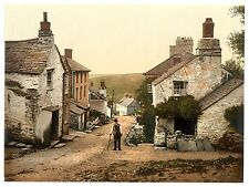 3 x Boscastle Forraburg Cornwall Vintage Reproduction Photos Pictures Photochrom