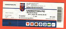 Original TICKET CHAMPIONS LEAGUE 11/12 Videoton FC-SK Sturm Graz!!!!!!