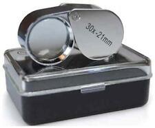 JEWELLERS LOUPE LOOP EYE GLASS MAGNIFIER 30x21 HALLMARK SCRAP SILVER & GOLD GEMS