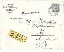 1906 Austria / Friedland, Bohemia Registered Philatelic Ad Cover SC 103a*