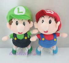 Super Mario Baby Mario & Baby Luigi Plush Doll Adorable Soft Toy  - 2 pcs