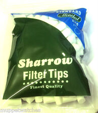 2 x BAG of SHARROW STANDARD MENTHOL CHUNKY THICK 8mm FILTER TIP - 400 Tips Total