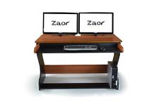 Zaor Miza Jr | Compact Studio Workstation Desk | Black Cherry | Pro Audio LA