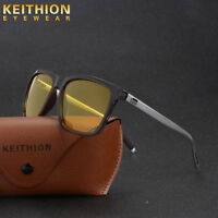 New Mens Womens Polarized Sunglasses Night Vision Driving Mirror Metal Glasses