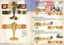imprimé Échelle 1/72 French manucure SPAD S.VII As # 72259