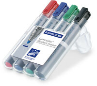 STAEDTLER Lumocolor FlipChart Marker 4er-Etui 356 WP4 2mm Boardmarker NEU & OVP