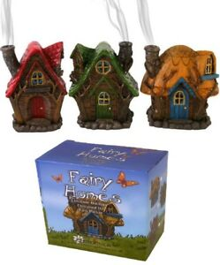 Resin Cast Fairy House Incense Cone Burner - Three Varieties (W27)