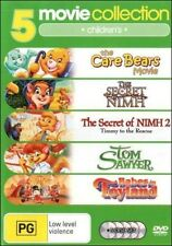 The Care Bears SECRET of NIMH 1 & 2 Tom Sawyer BABES in TOYLAND (5 DVD SET) NEW