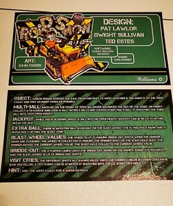 Pinball card instructions road show set of 2