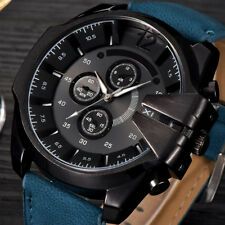 Mode Sports Herrenuhr Quarzuhr Edelstahl Leder Luxus Casual Armbanduhr Watch