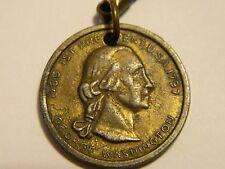 Antique Old George Washington 1st President Medal Coin Award w/ Keyring ---#1011